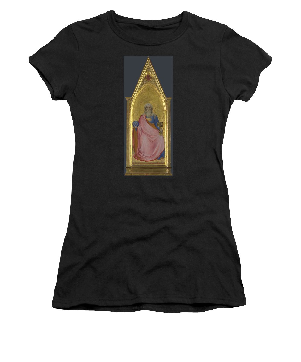 Giovanni Women's T-Shirt (Athletic Fit) featuring the digital art Christ Of The Apocalypse  Central Pinnacle Panel by PixBreak Art