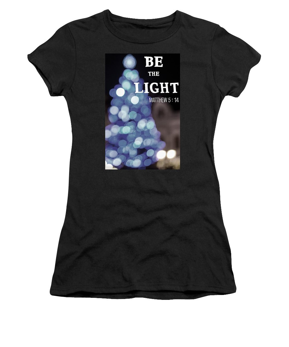 Christmas Women's T-Shirt (Athletic Fit) featuring the digital art Christmas Quote by Firman Saputra
