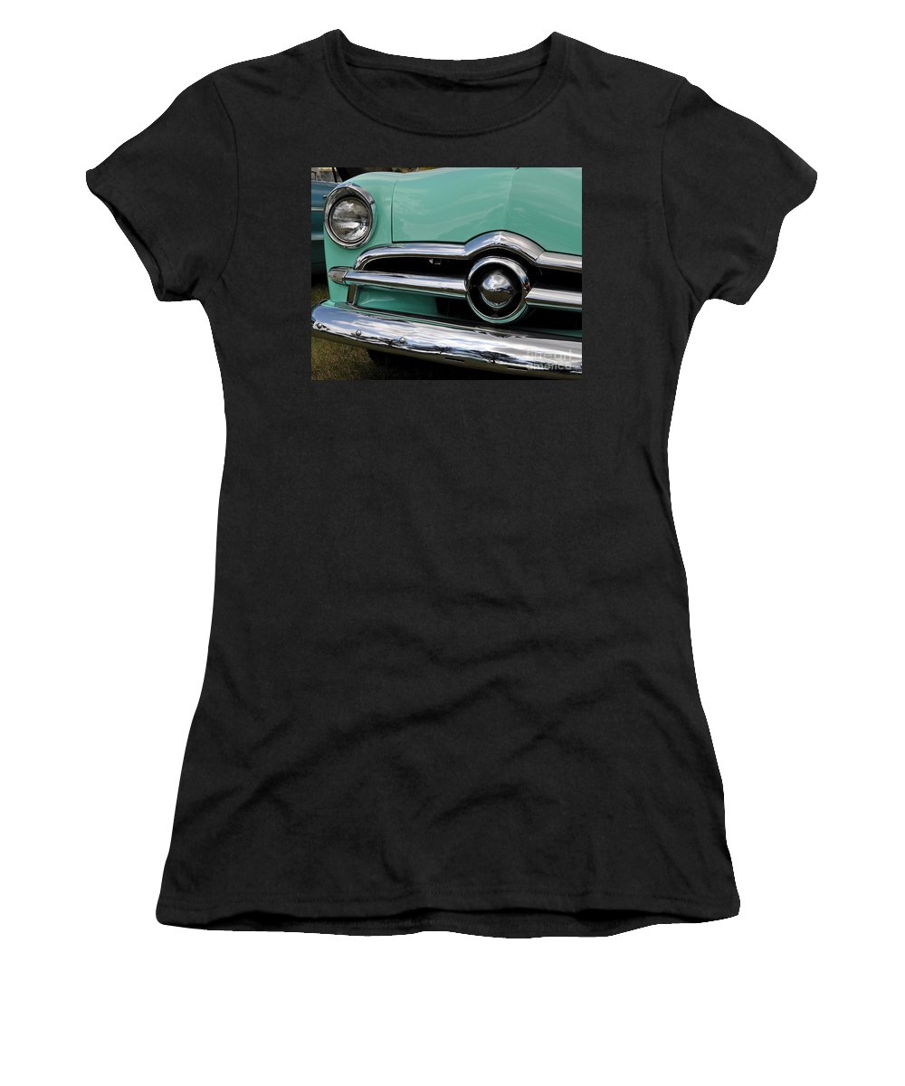 Classic Cars Women's T-Shirt (Athletic Fit) featuring the photograph Chrome Never Dies by Steve Brown