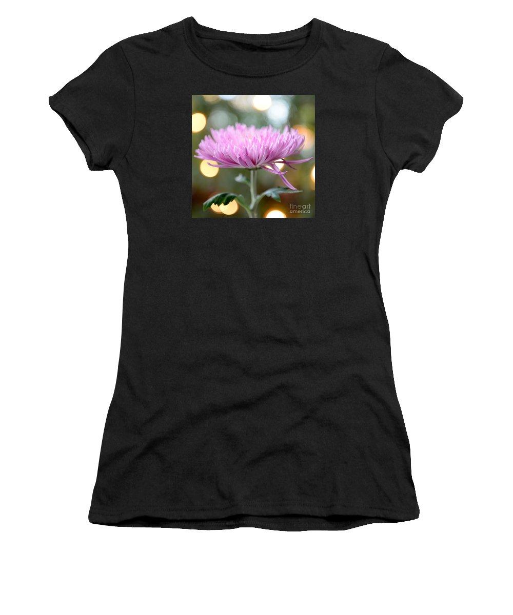 Chrysanthemum Women's T-Shirt featuring the photograph Chrysanthemum Happiness by Olga Hamilton