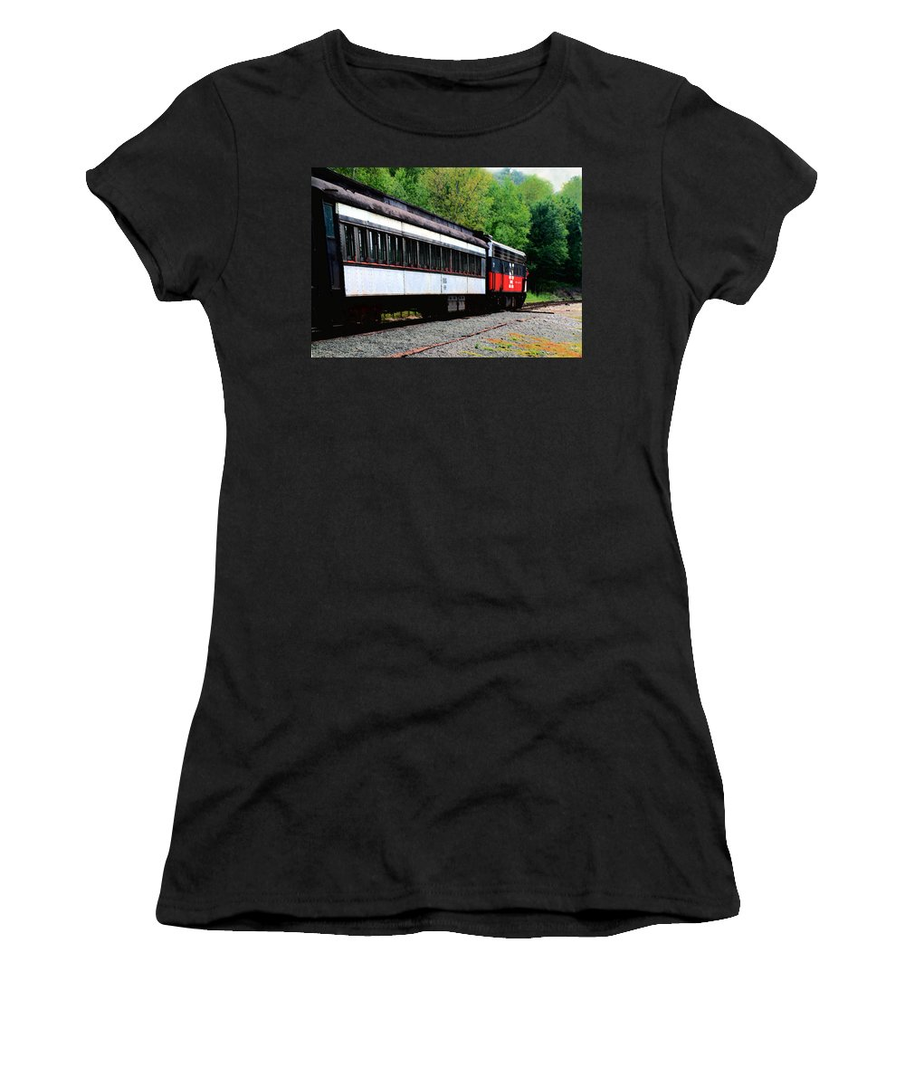 Train Women's T-Shirt (Athletic Fit) featuring the photograph Chugging Along by RC DeWinter