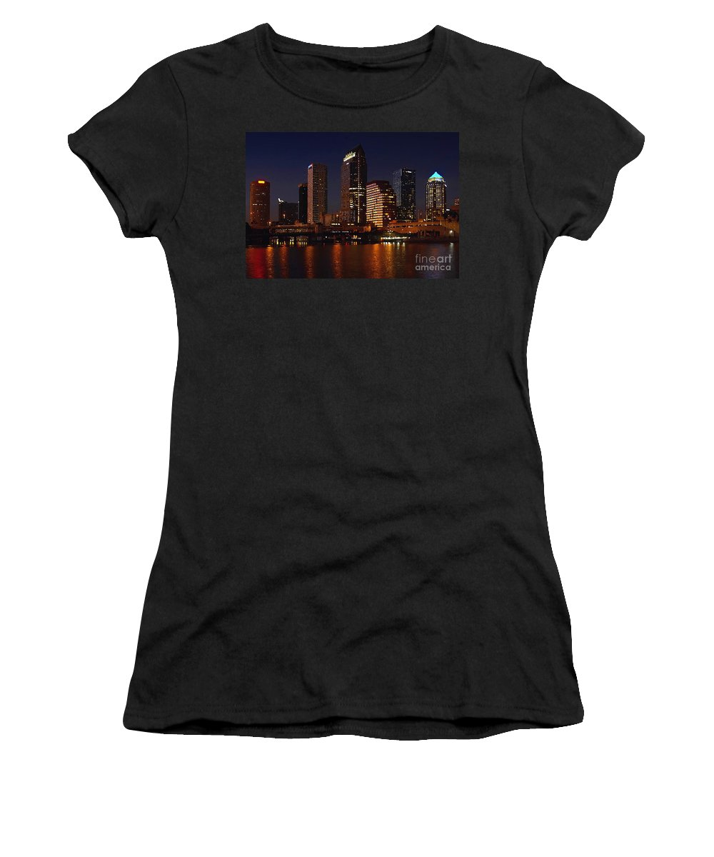 Tampa Florida Women's T-Shirt (Athletic Fit) featuring the photograph Cigar City by David Lee Thompson