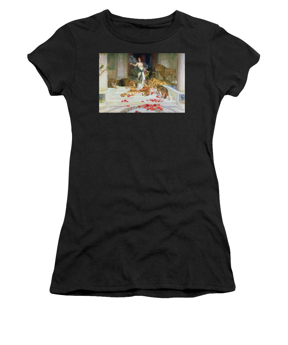 Circe Women's T-Shirt (Athletic Fit) featuring the painting Circe by Cabanel Alexandre