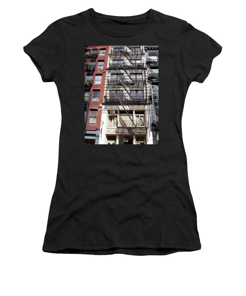 City Women's T-Shirt (Athletic Fit) featuring the photograph City Complex by Deborah Crew-Johnson