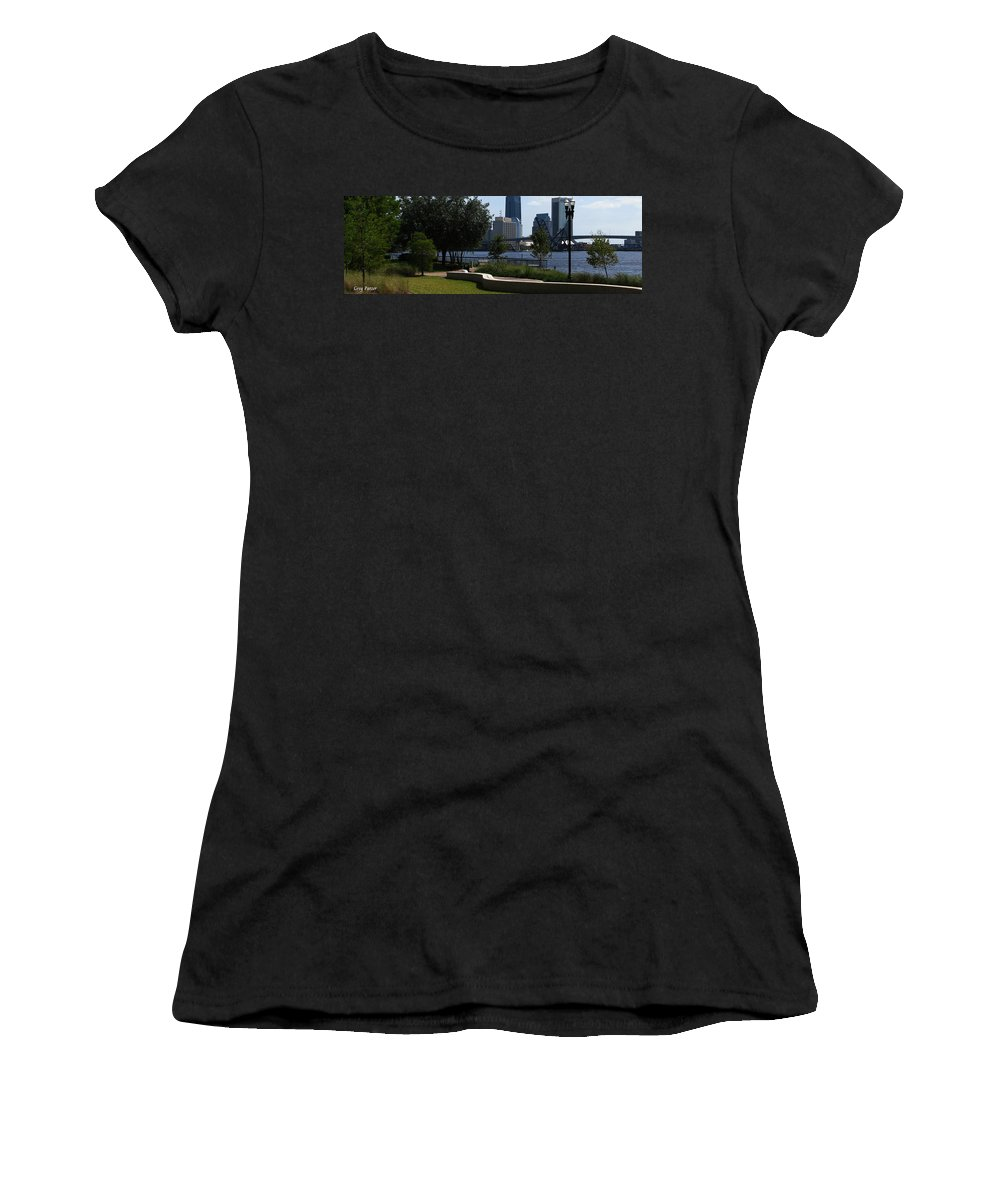 Art For The Wall...patzer Photography Women's T-Shirt (Athletic Fit) featuring the photograph City Way by Greg Patzer