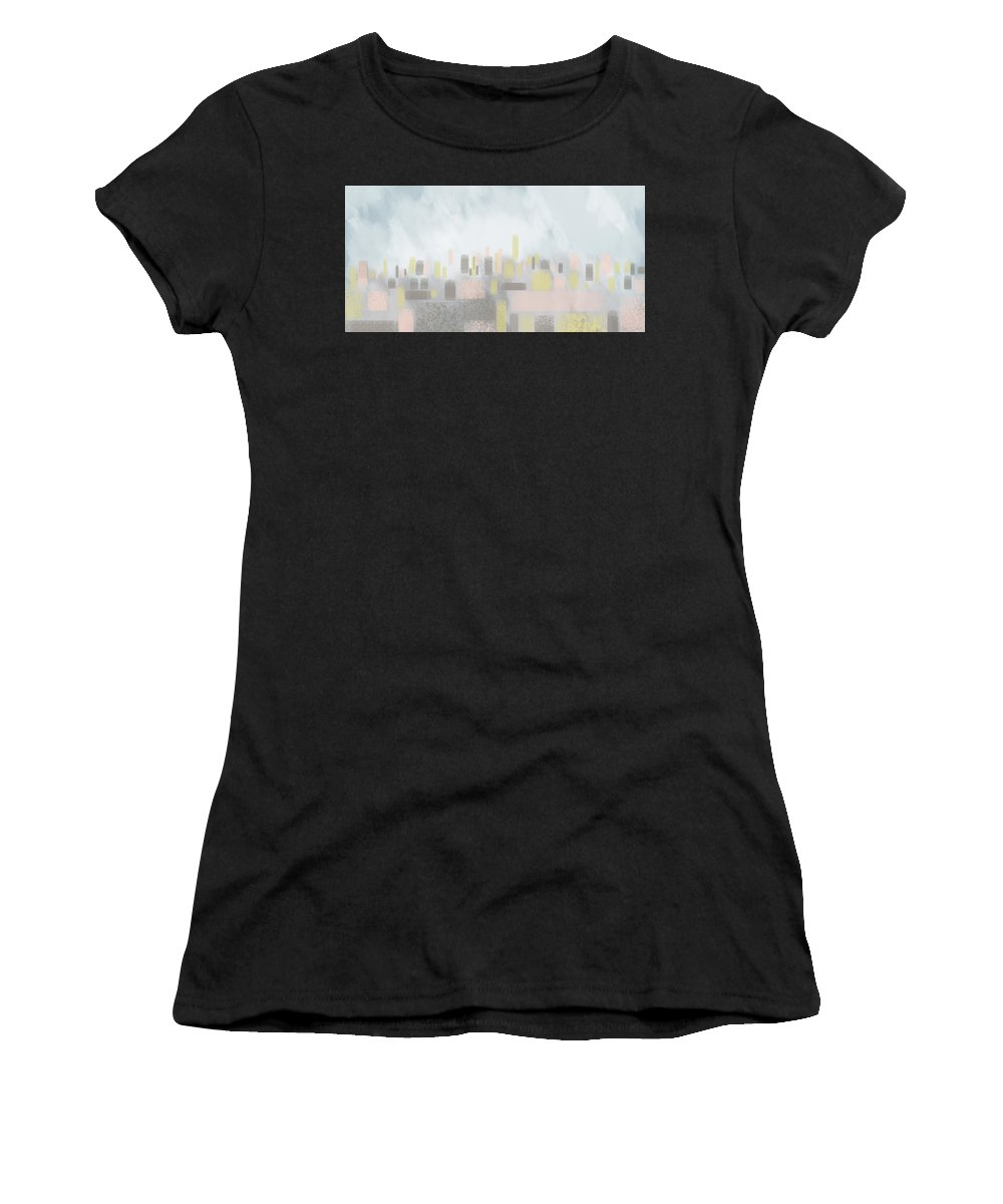City Women's T-Shirt featuring the digital art Cityscape by MarthaLilia