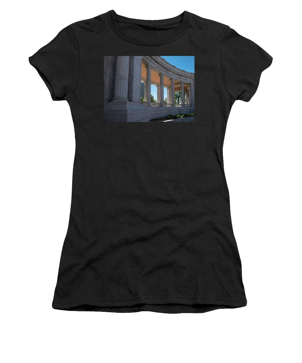 Civic Women's T-Shirt (Athletic Fit) featuring the photograph Civic Center Park Denver Co by Steve Gadomski