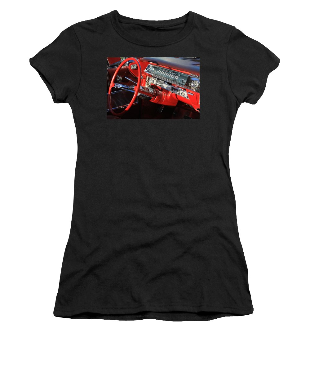 Red Women's T-Shirt (Athletic Fit) featuring the photograph Classic Red by Robert Pearson