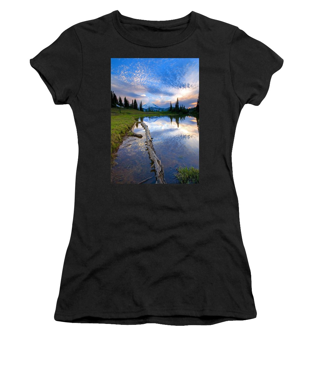 Landscape Women's T-Shirt (Athletic Fit) featuring the photograph Cloud Explosion by Mike Dawson