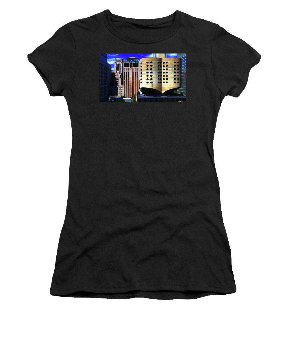 Cloverleaf Building Women's T-Shirt (Athletic Fit) featuring the photograph Cloverleaf Building by Patrick Malon