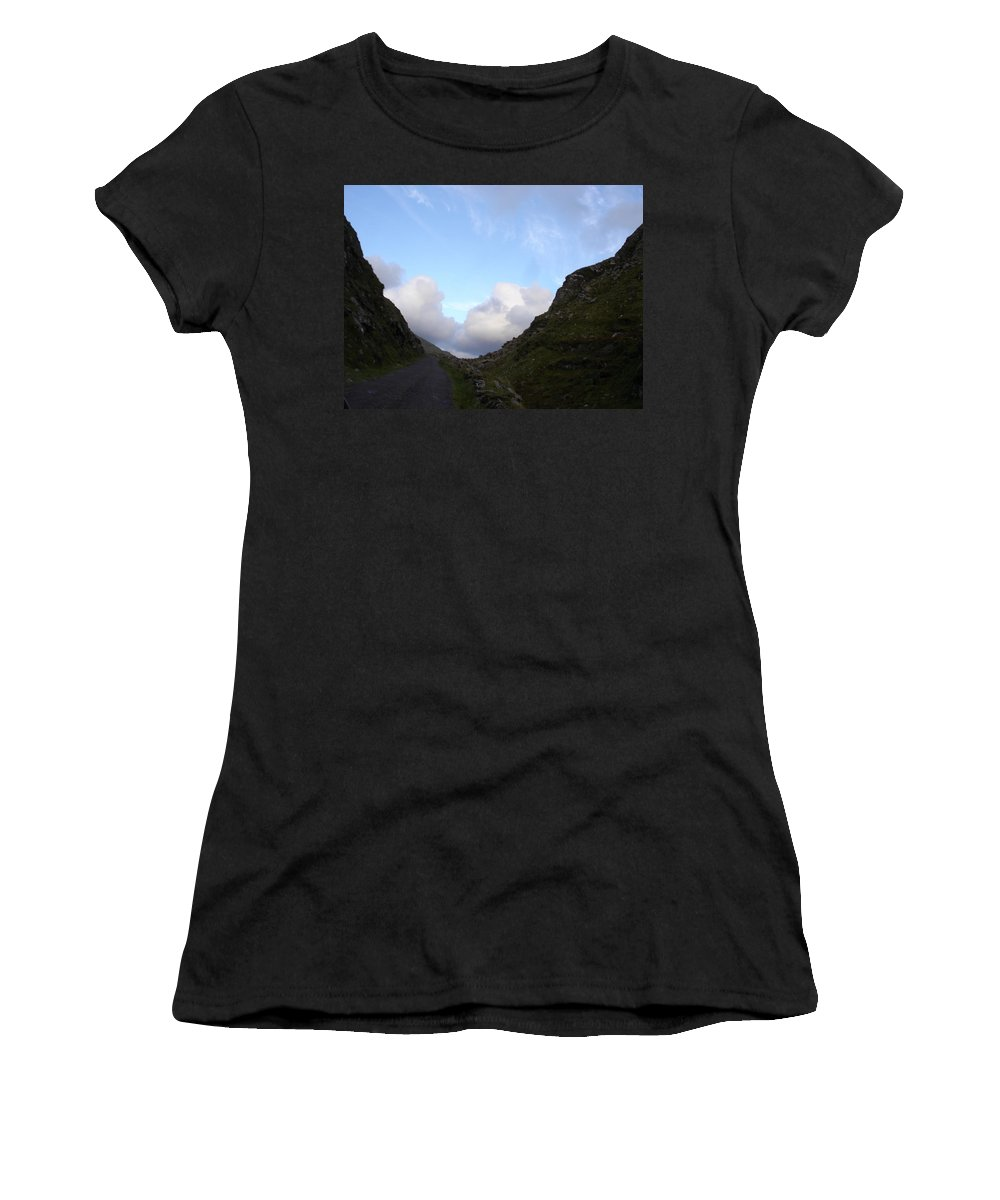 Women's T-Shirt (Athletic Fit) featuring the photograph Clowdy Drive by Kelly Mezzapelle