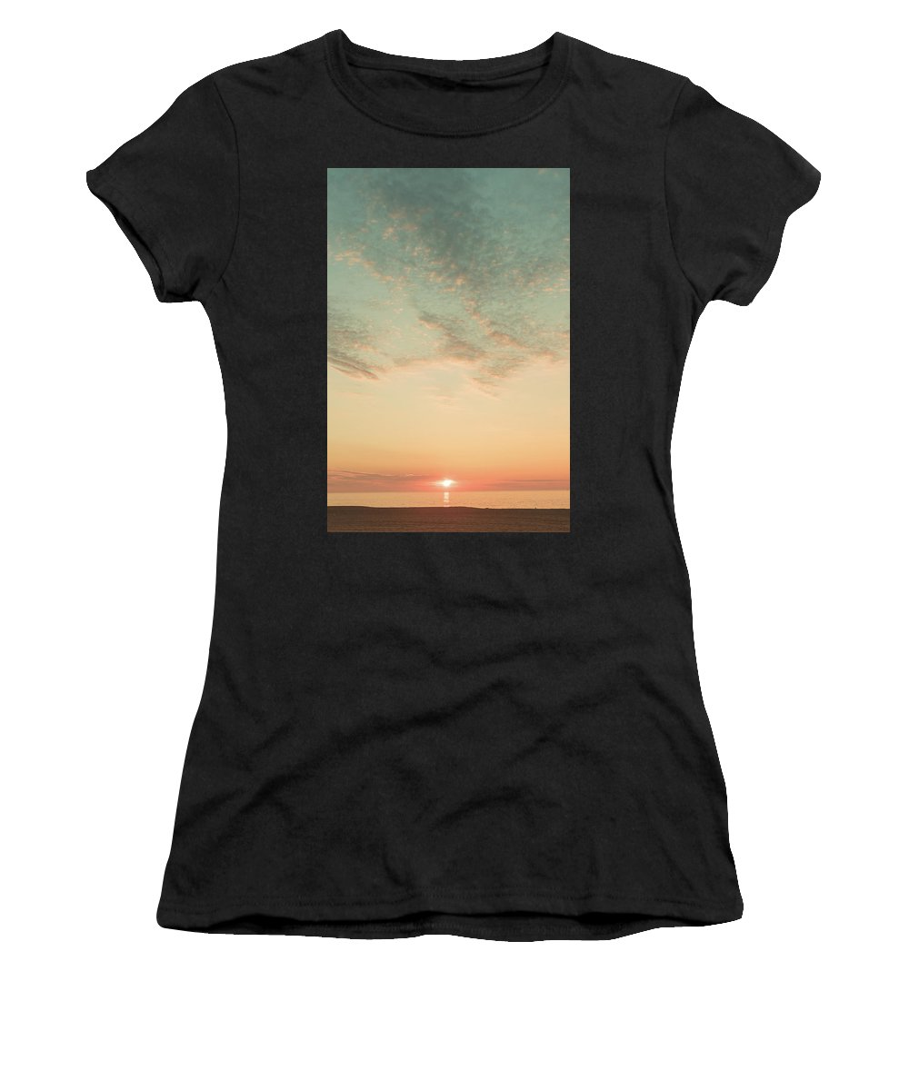 East Coast Women's T-Shirt (Athletic Fit) featuring the photograph Coastal Sunrise by Kathleen R Collins