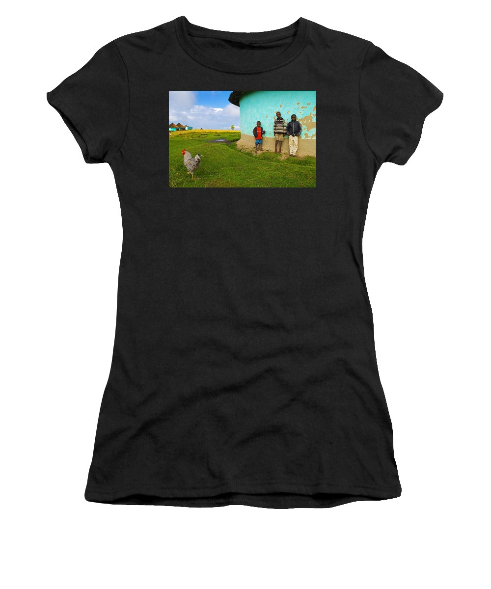 Skip Women's T-Shirt (Athletic Fit) featuring the photograph Cocky by Skip Hunt