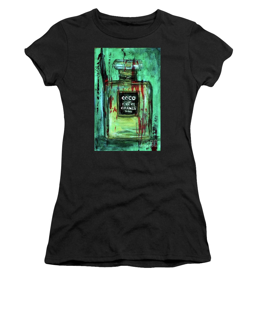 Chanel Women's T-Shirt (Athletic Fit) featuring the painting Coco Potion by PJ Lewis