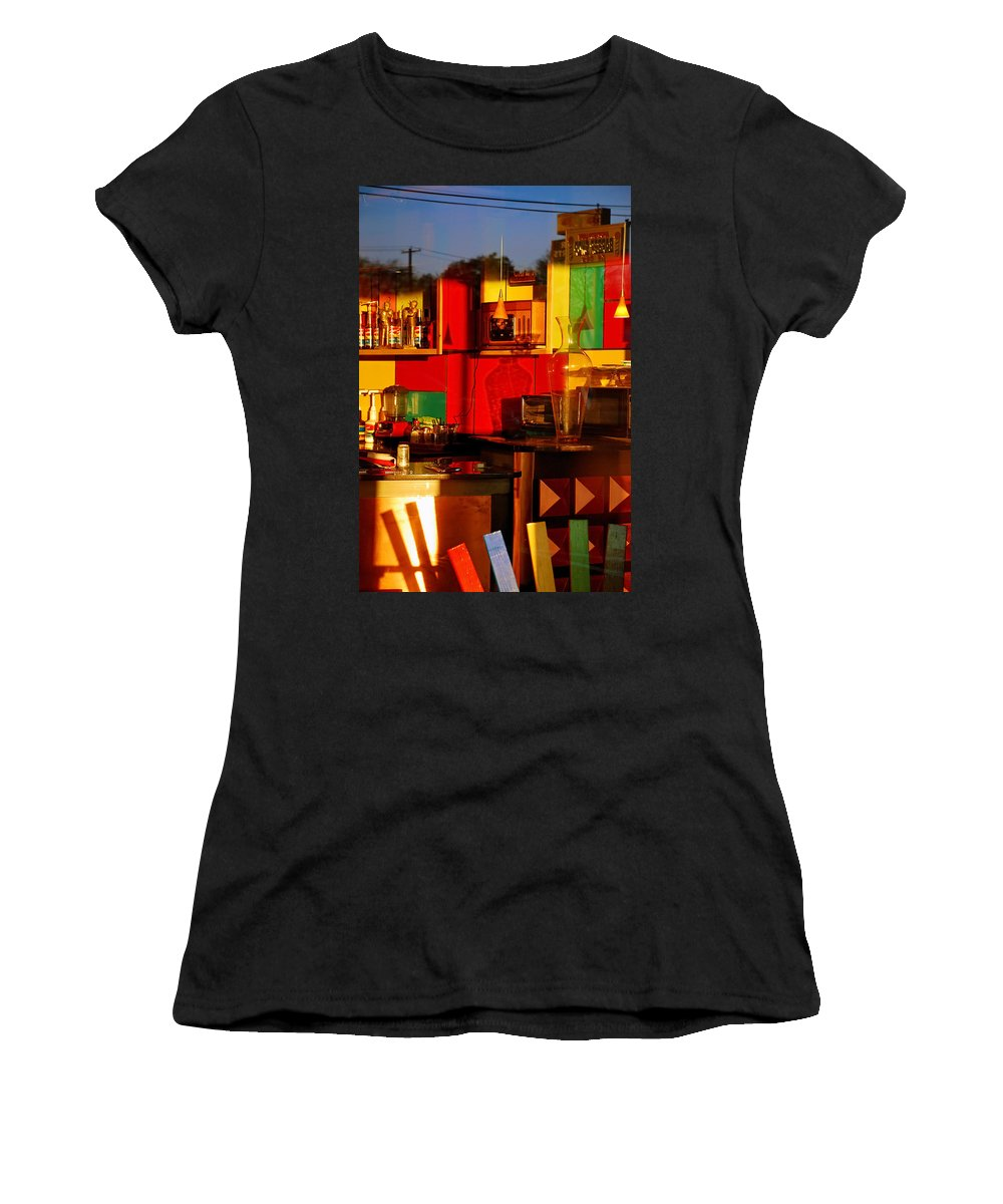Skip Hunt Women's T-Shirt (Athletic Fit) featuring the photograph Coffee Shop by Skip Hunt