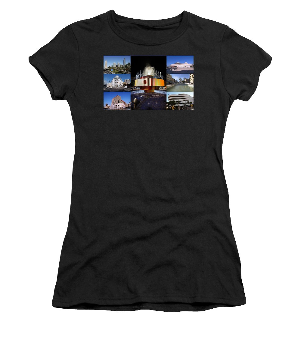 Collage Women's T-Shirt featuring the photograph Collage Of Tel Aviv Israel by Ilan Rosen