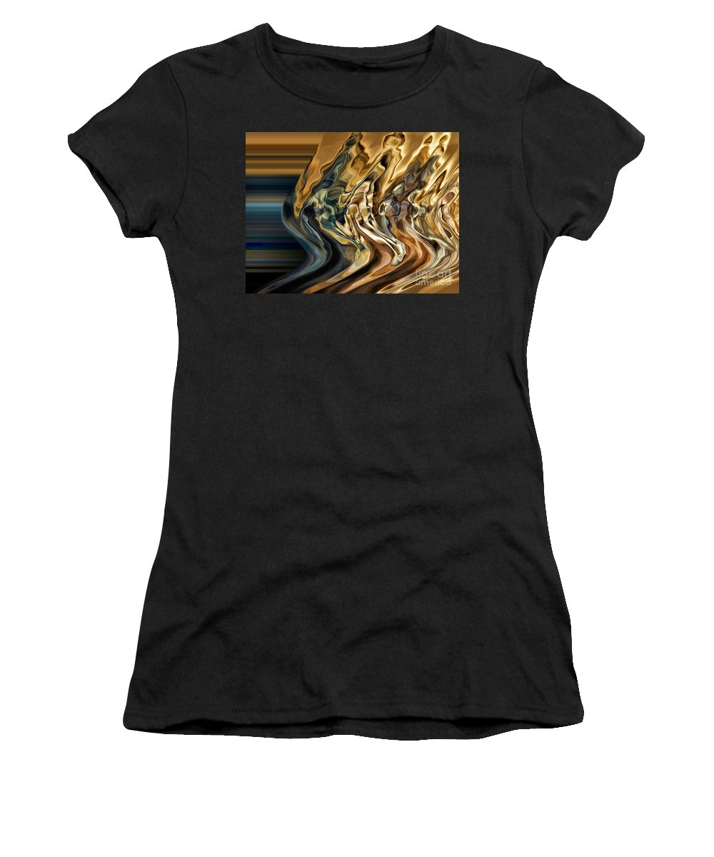 Motion Women's T-Shirt featuring the digital art Collision Xiv by Jim Fitzpatrick