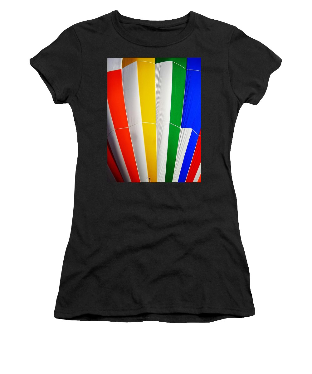 Hot Women's T-Shirt (Athletic Fit) featuring the photograph Color In The Air by Juergen Weiss