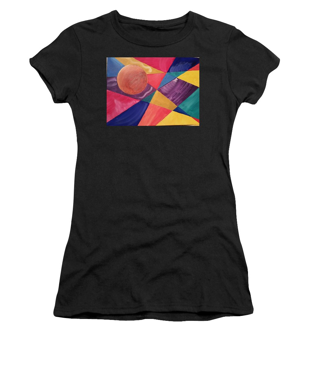 Color Women's T-Shirt (Athletic Fit) featuring the painting Color Me by Kelly Woolard
