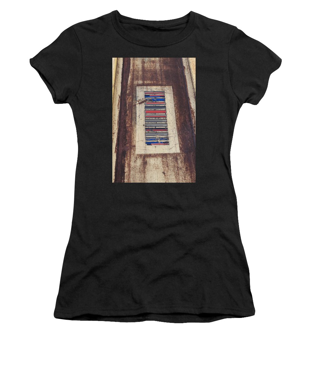 Train Women's T-Shirt (Athletic Fit) featuring the photograph Color Strip by Wade Milne
