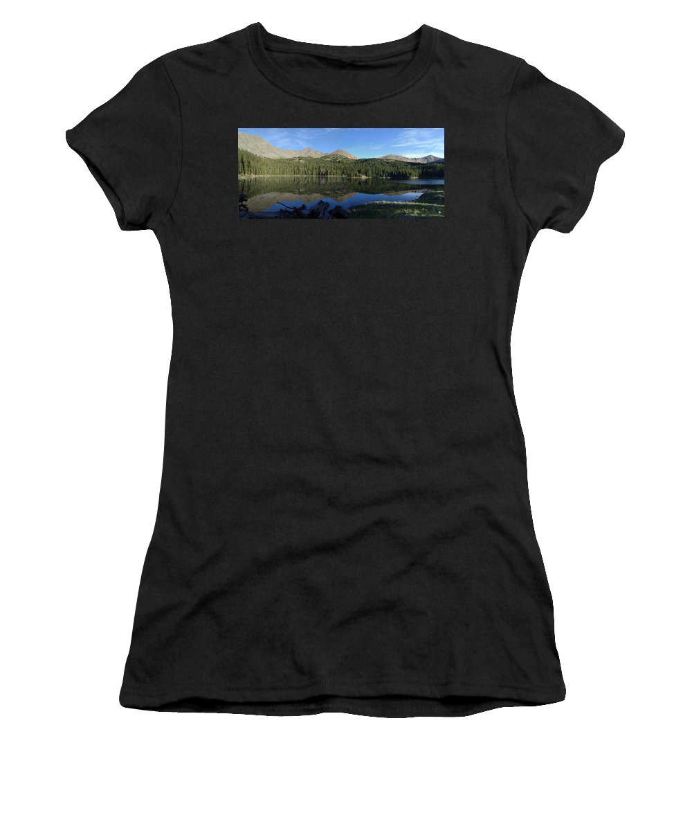 Colorado Mountains Women's T-Shirt (Athletic Fit) featuring the photograph Colorado's Sawatch Range by Carol Milisen