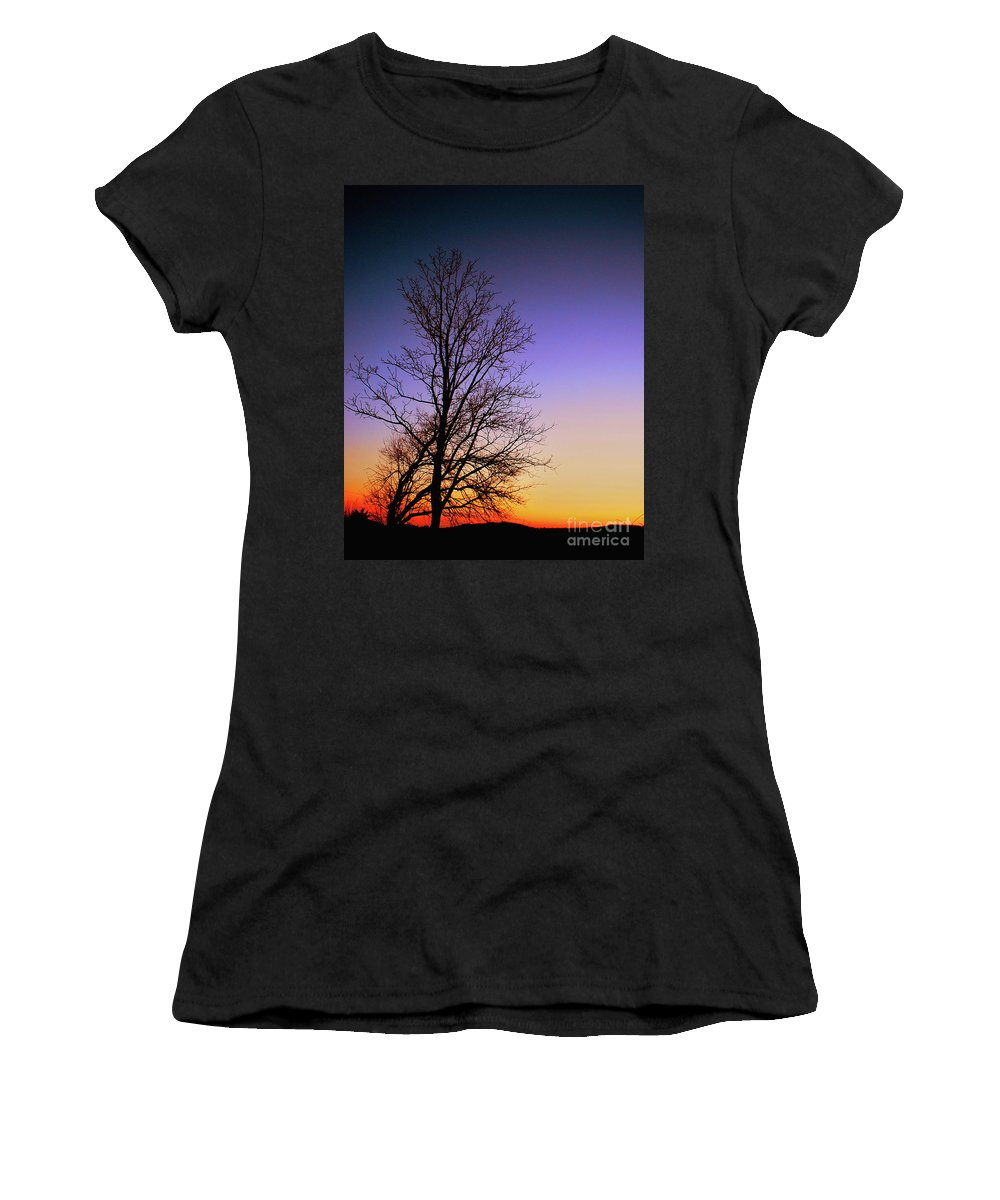 Sky Women's T-Shirt (Athletic Fit) featuring the photograph Colorscape by Lori Tambakis