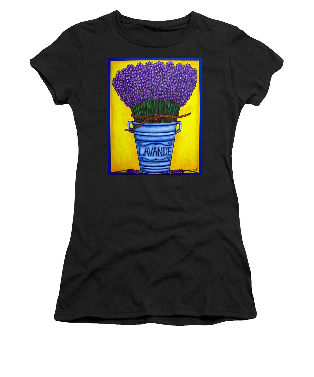 Antique Women's T-Shirt (Athletic Fit) featuring the painting Colours Of Provence by Lisa Lorenz