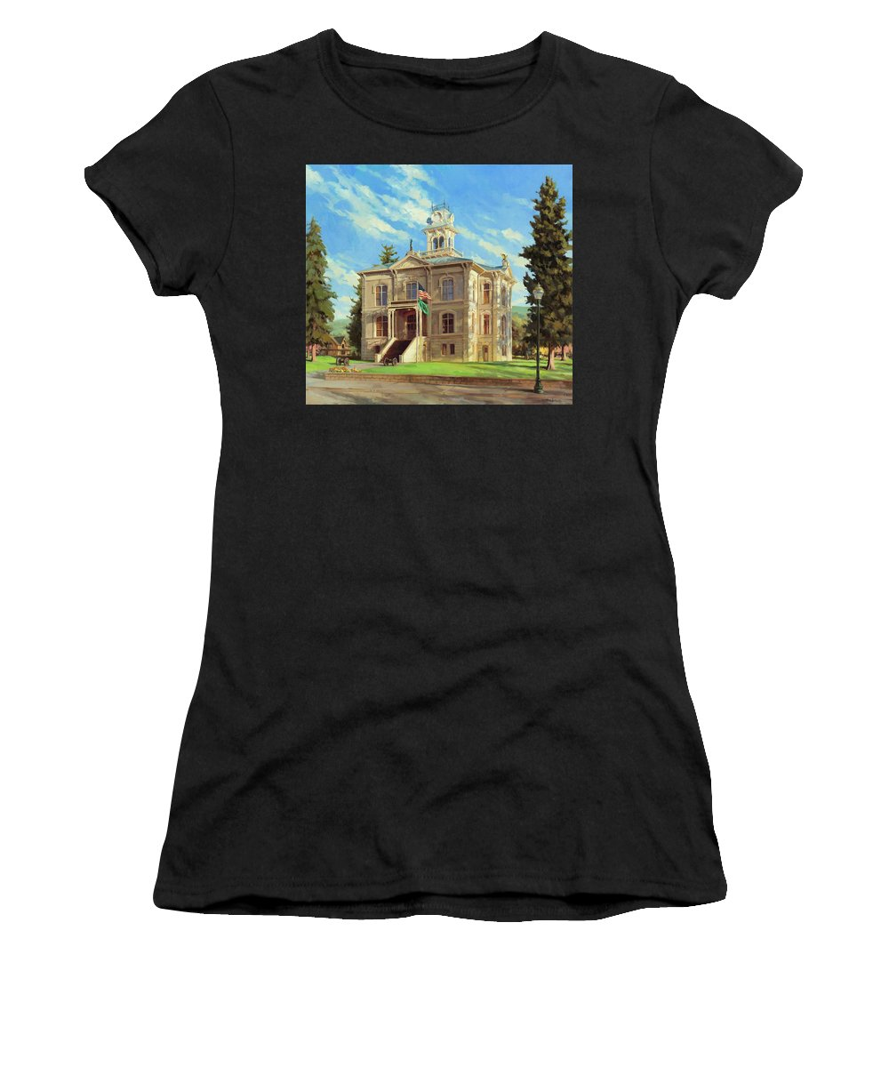 Courthouse Paintings Women's T-Shirts