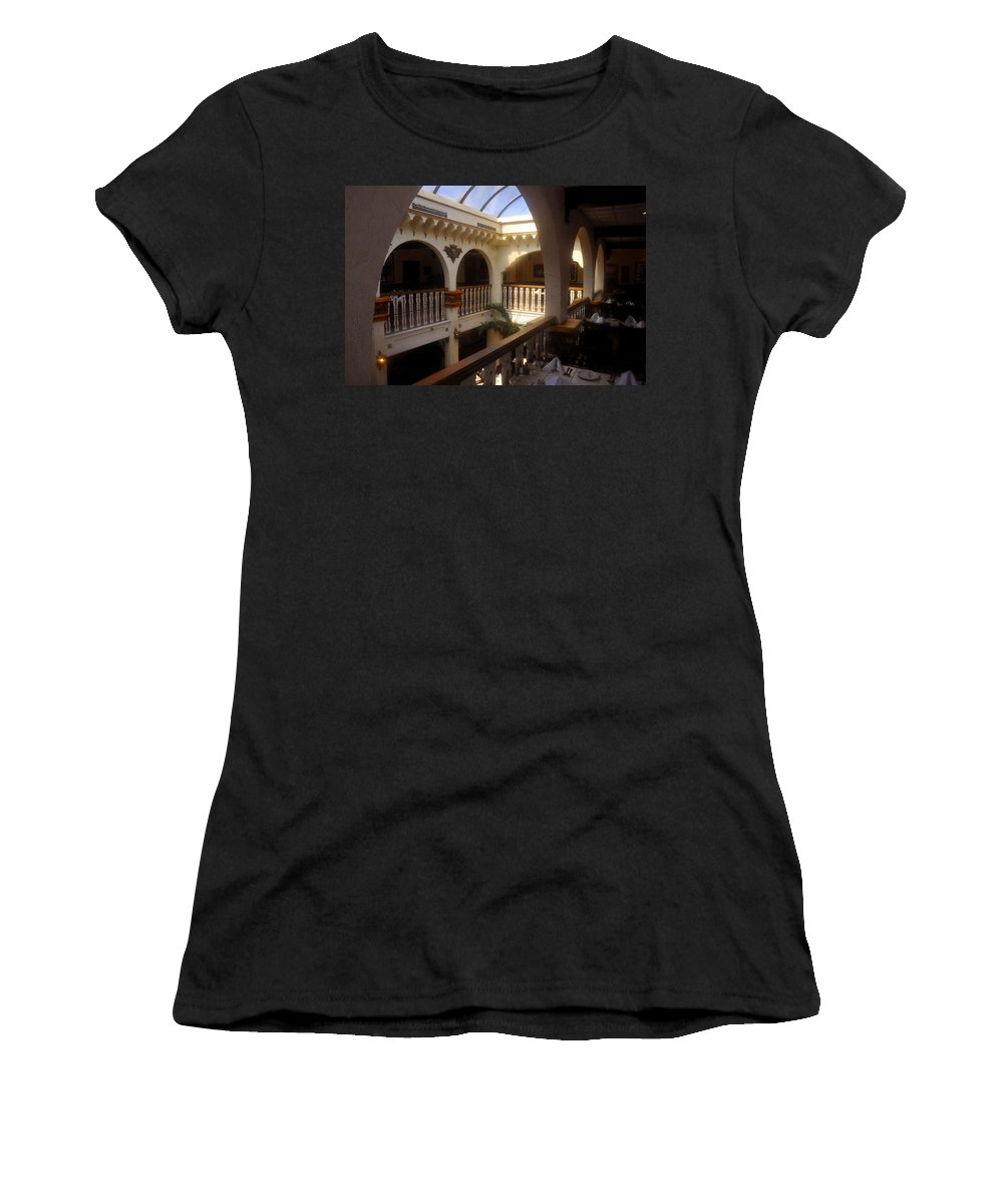 Columbia Restaurant Women's T-Shirt featuring the painting Columbia Restaurant Work Number One by David Lee Thompson