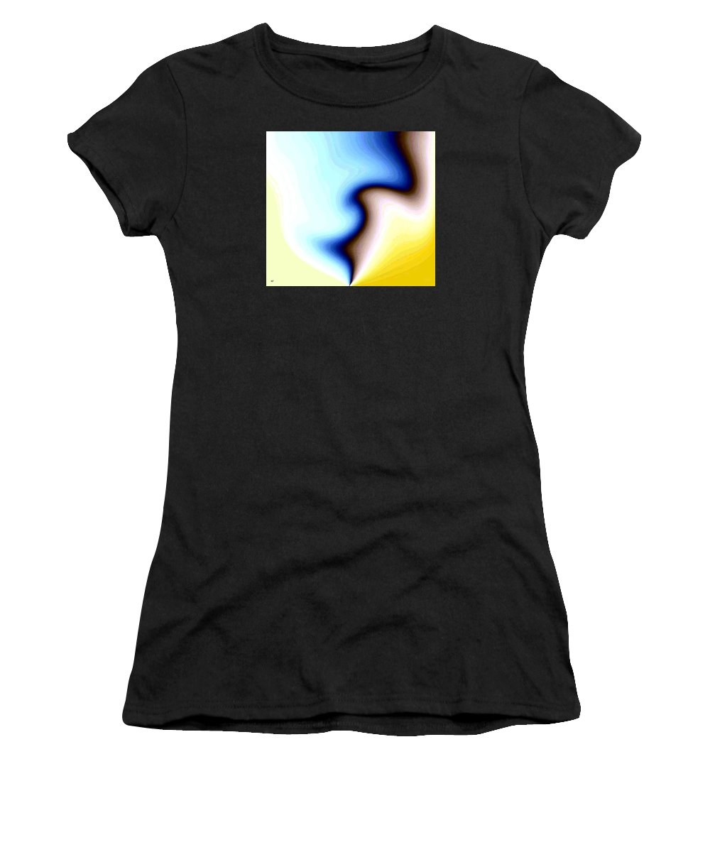 #faceprofileabstract Women's T-Shirt (Athletic Fit) featuring the digital art Conceptual 7 by Will Borden