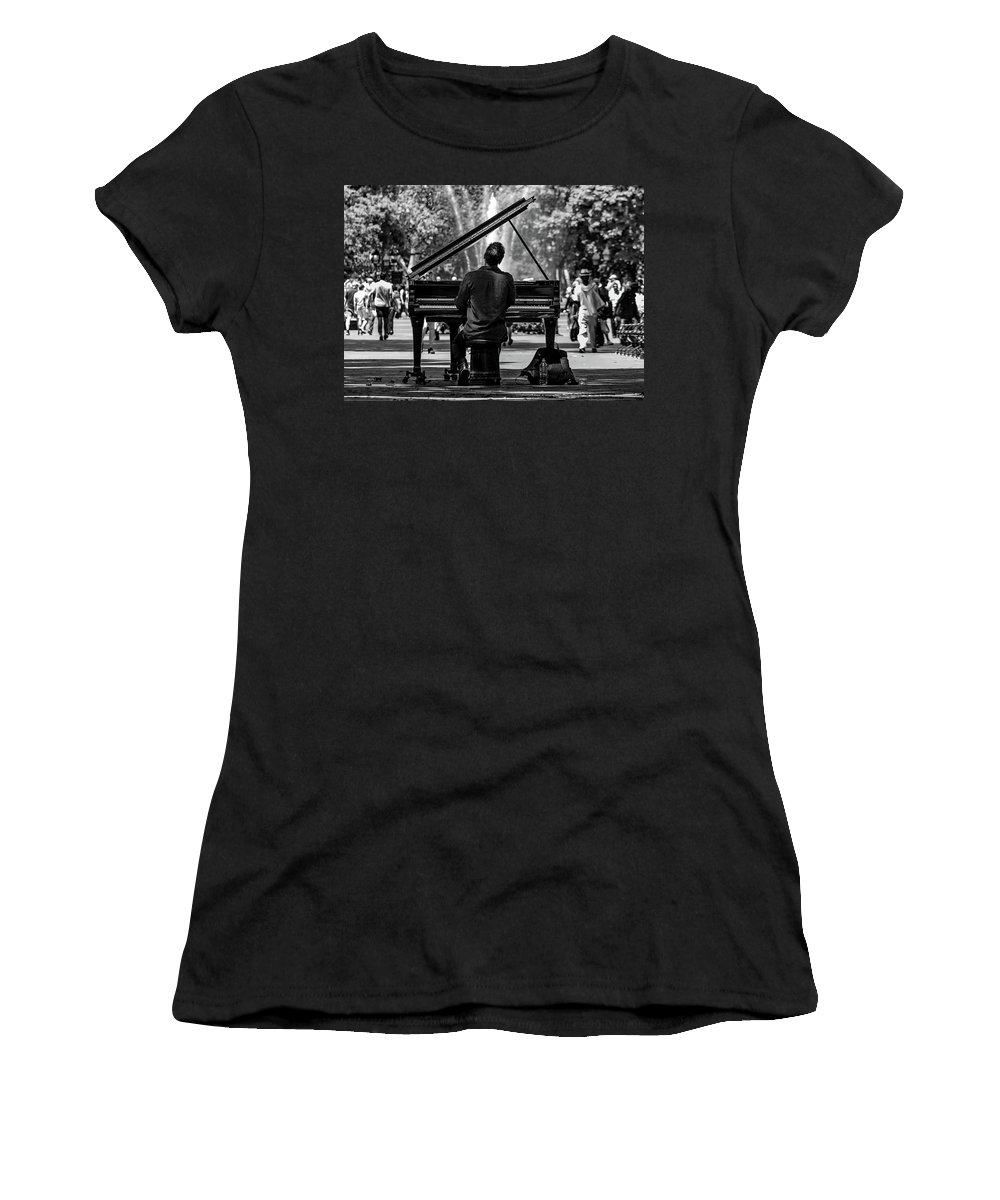 Concert Women's T-Shirt featuring the photograph Concert In The Park by Pixabay