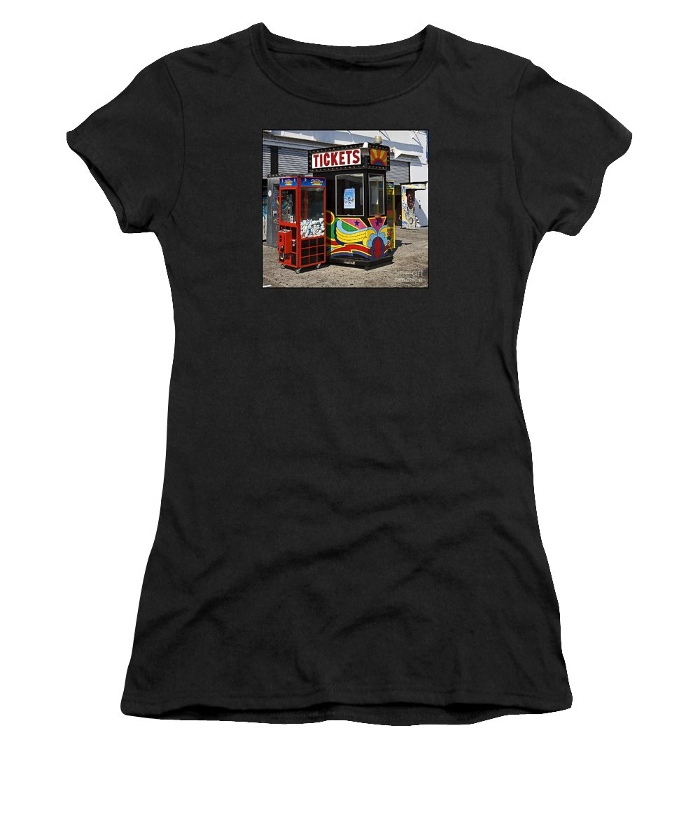 Coney Island Women's T-Shirt (Athletic Fit) featuring the photograph Coney Island Memories 3 by Madeline Ellis