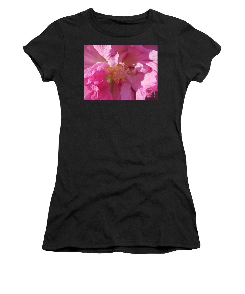 Confederate Rose Women's T-Shirt (Athletic Fit) featuring the photograph Confederate Rose by Maria Urso