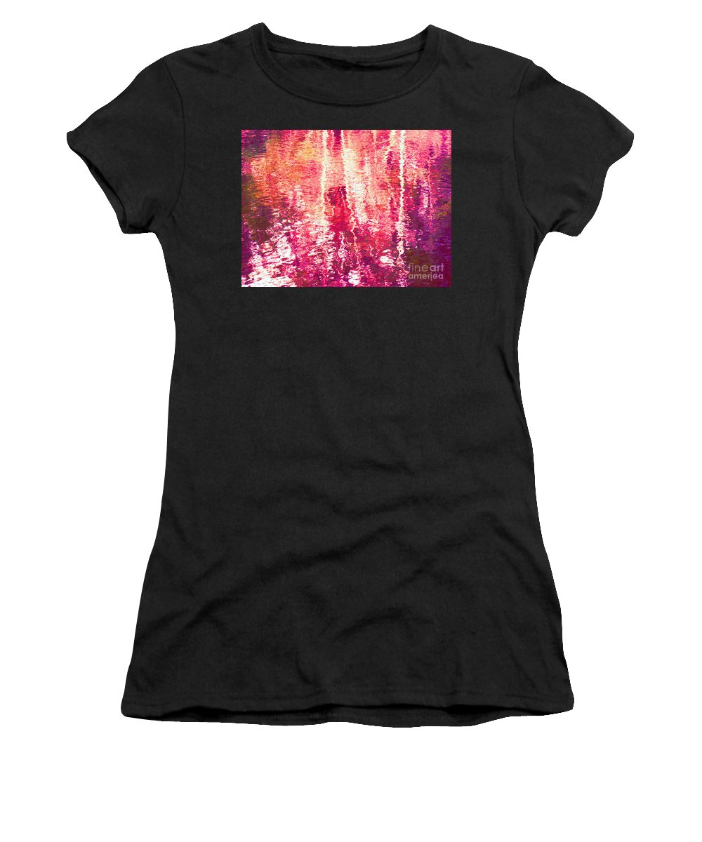 Abstract Women's T-Shirt featuring the photograph Conflicted In The Moment by Sybil Staples