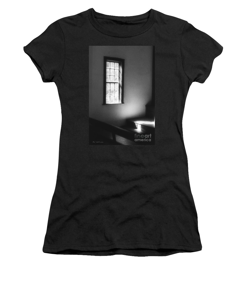Window Women's T-Shirt (Athletic Fit) featuring the photograph Contemplation by RC DeWinter
