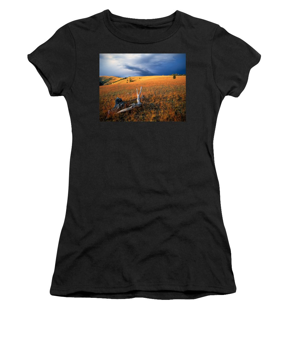 Continental Divide Women's T-Shirt (Athletic Fit) featuring the photograph Continental Divide by Leland D Howard
