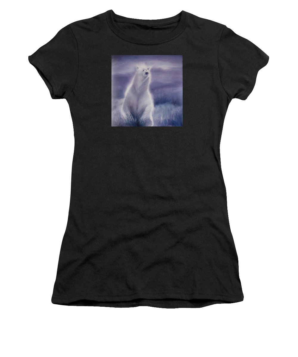Bear Women's T-Shirt (Athletic Fit) featuring the painting Cool Bear by Allison Ashton