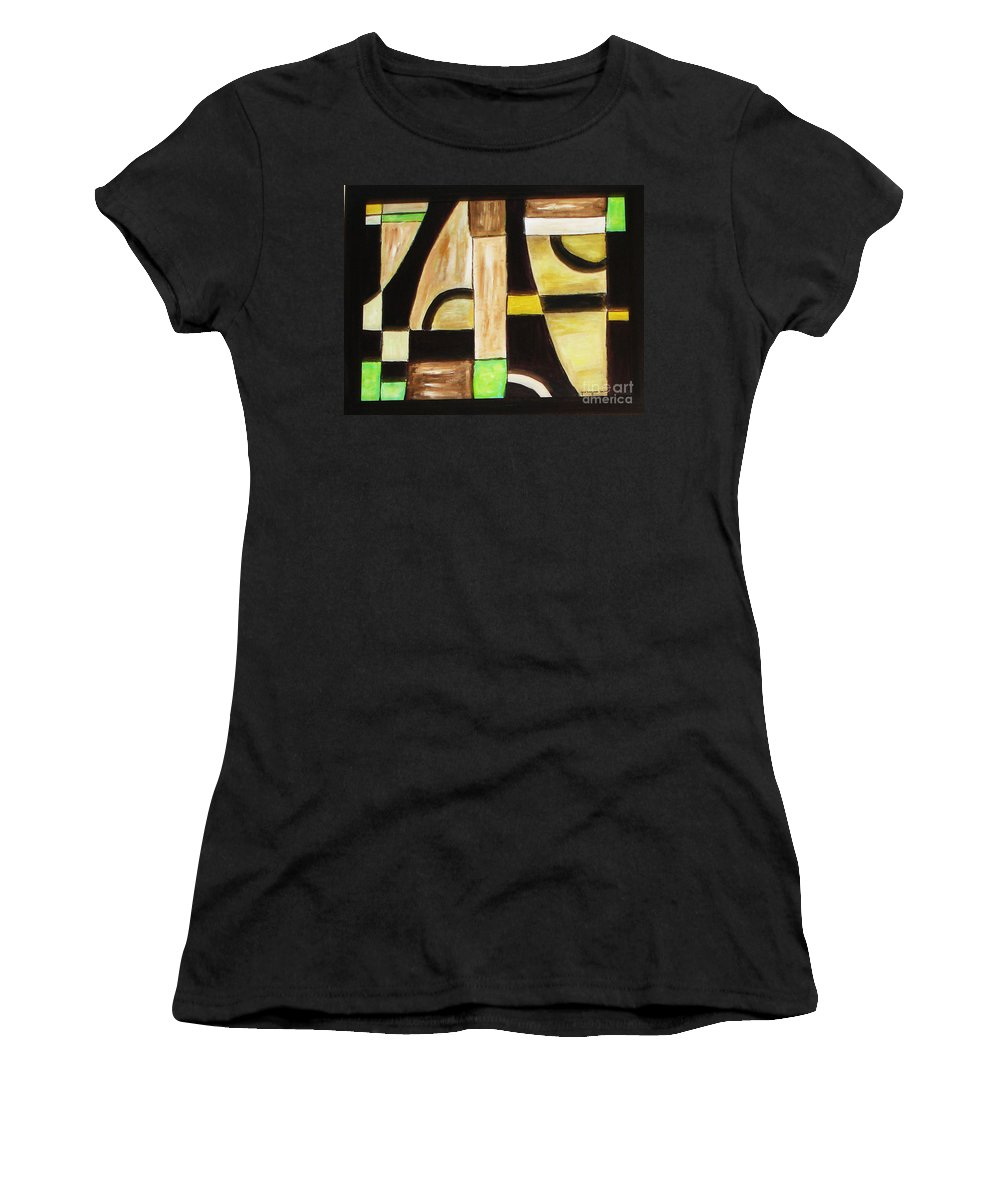 Acrylic Painting Women's T-Shirt (Athletic Fit) featuring the painting Cool by Yael VanGruber
