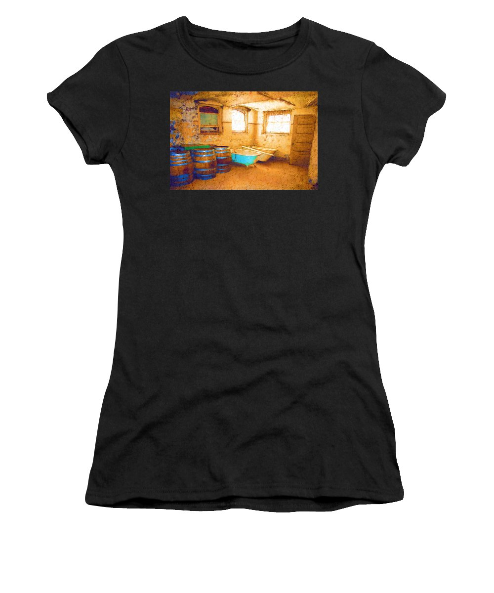 Preston Castle Women's T-Shirt (Athletic Fit) featuring the digital art Cornered by Holly Ethan