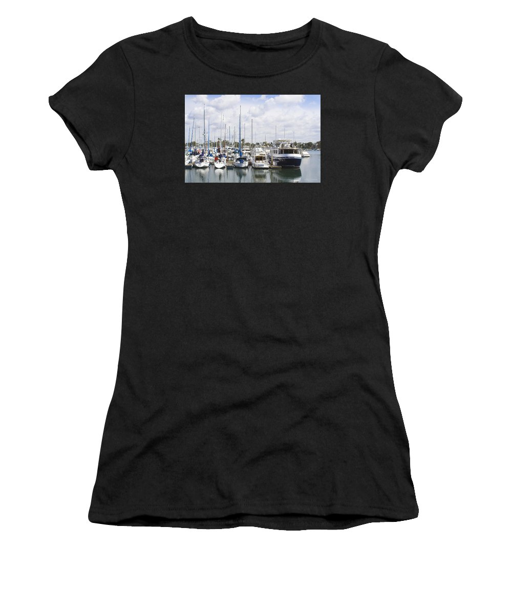 Coronado Women's T-Shirt (Athletic Fit) featuring the photograph Coronado Boats II by Margie Wildblood