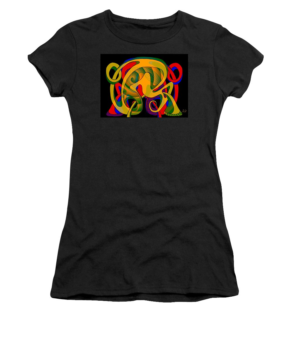 Life Women's T-Shirt featuring the digital art Corresponding Independent Lifes by Helmut Rottler