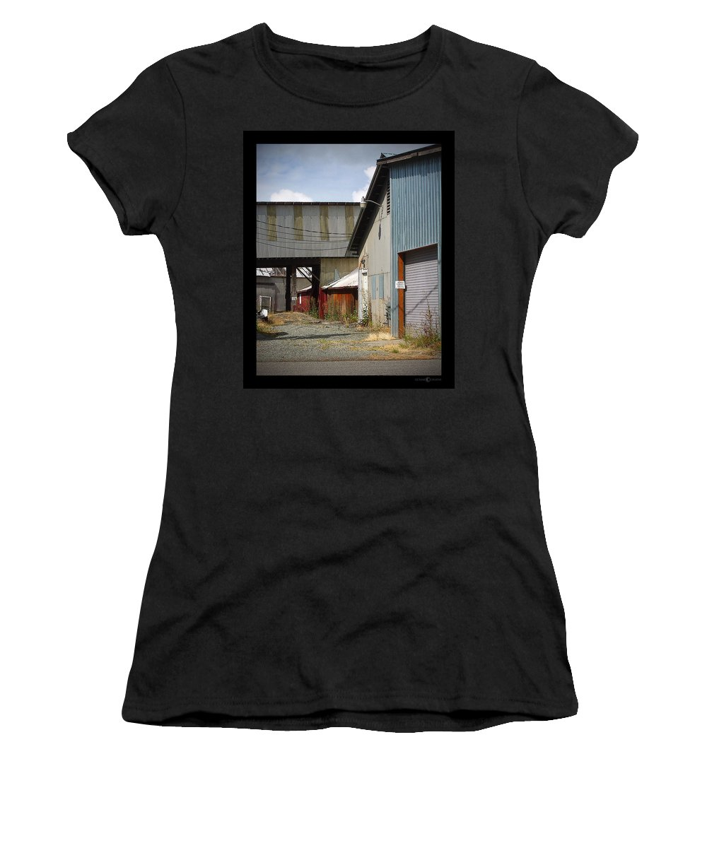 Corrugated Women's T-Shirt (Athletic Fit) featuring the photograph Corrugated by Tim Nyberg