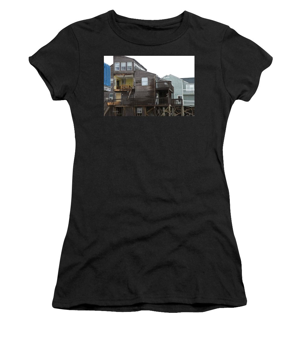 Topsail Women's T-Shirt (Athletic Fit) featuring the photograph Cottages Of The Past by Betsy Knapp