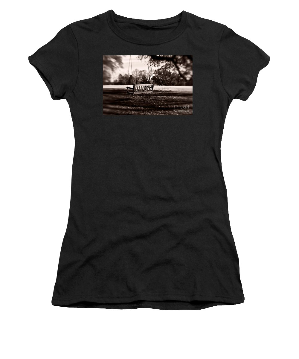 Swing Women's T-Shirt (Athletic Fit) featuring the photograph Country Swing by Scott Pellegrin