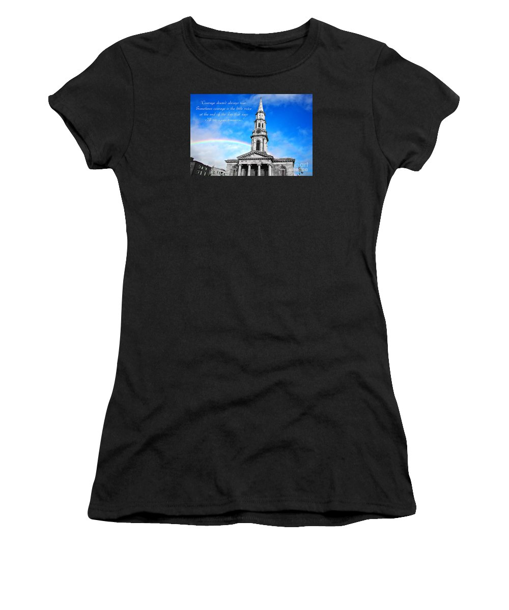 Courage Women's T-Shirt (Athletic Fit) featuring the photograph Courage V3 by Alex Art and Photo