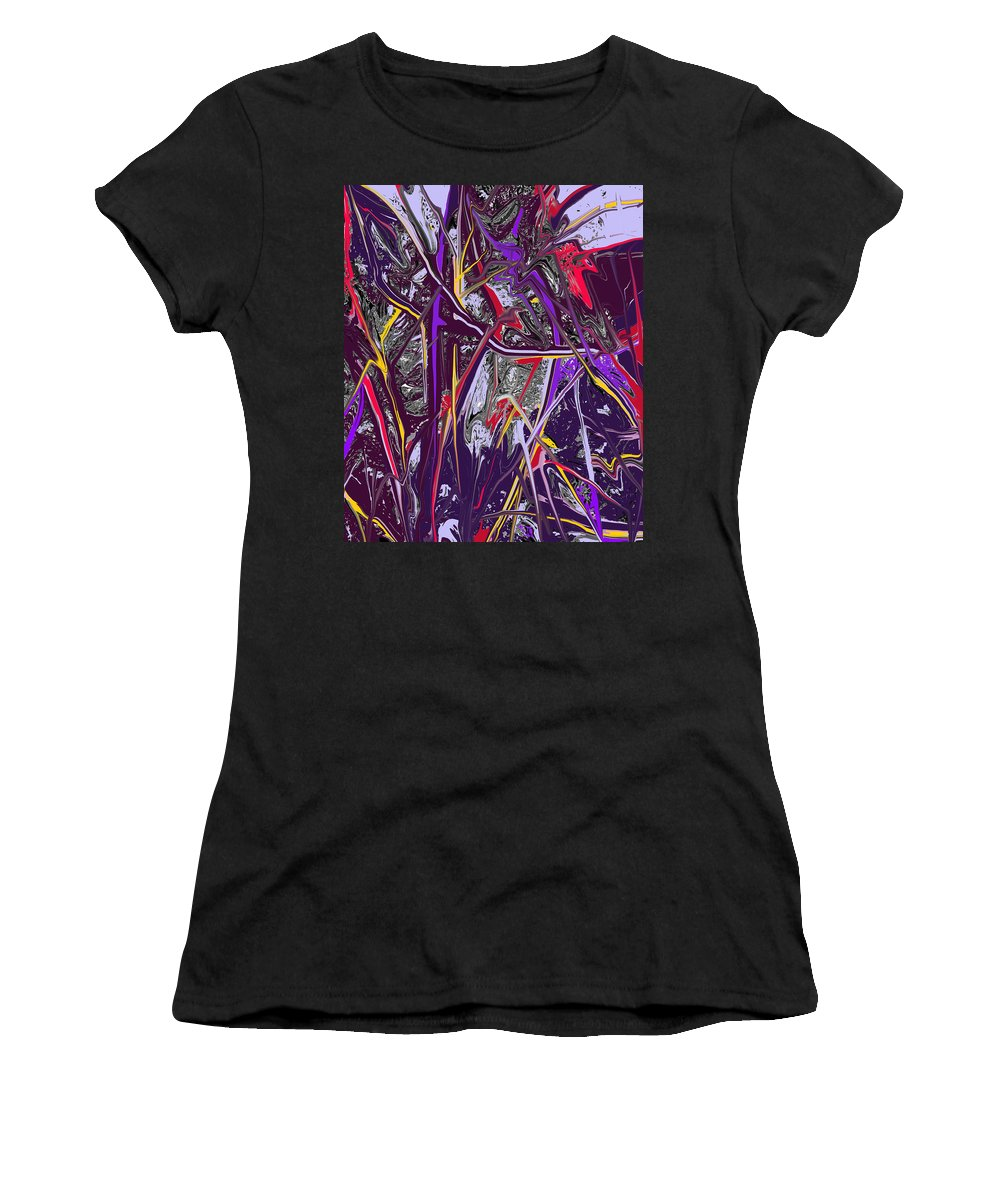 Abstract Women's T-Shirt (Athletic Fit) featuring the digital art Crash by Ian MacDonald