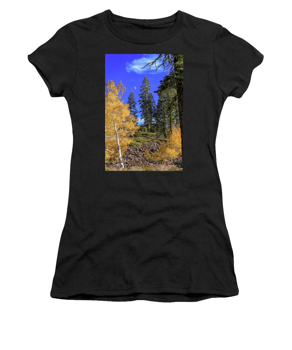 Landscape Women's T-Shirt (Athletic Fit) featuring the photograph Crater Moon by James Eddy