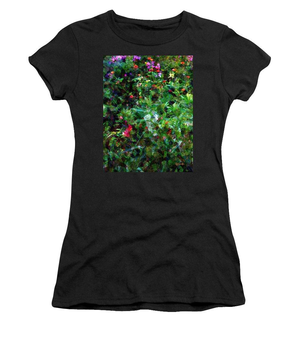 Garden Women's T-Shirt (Athletic Fit) featuring the digital art Crazyquilt Garden by RC DeWinter