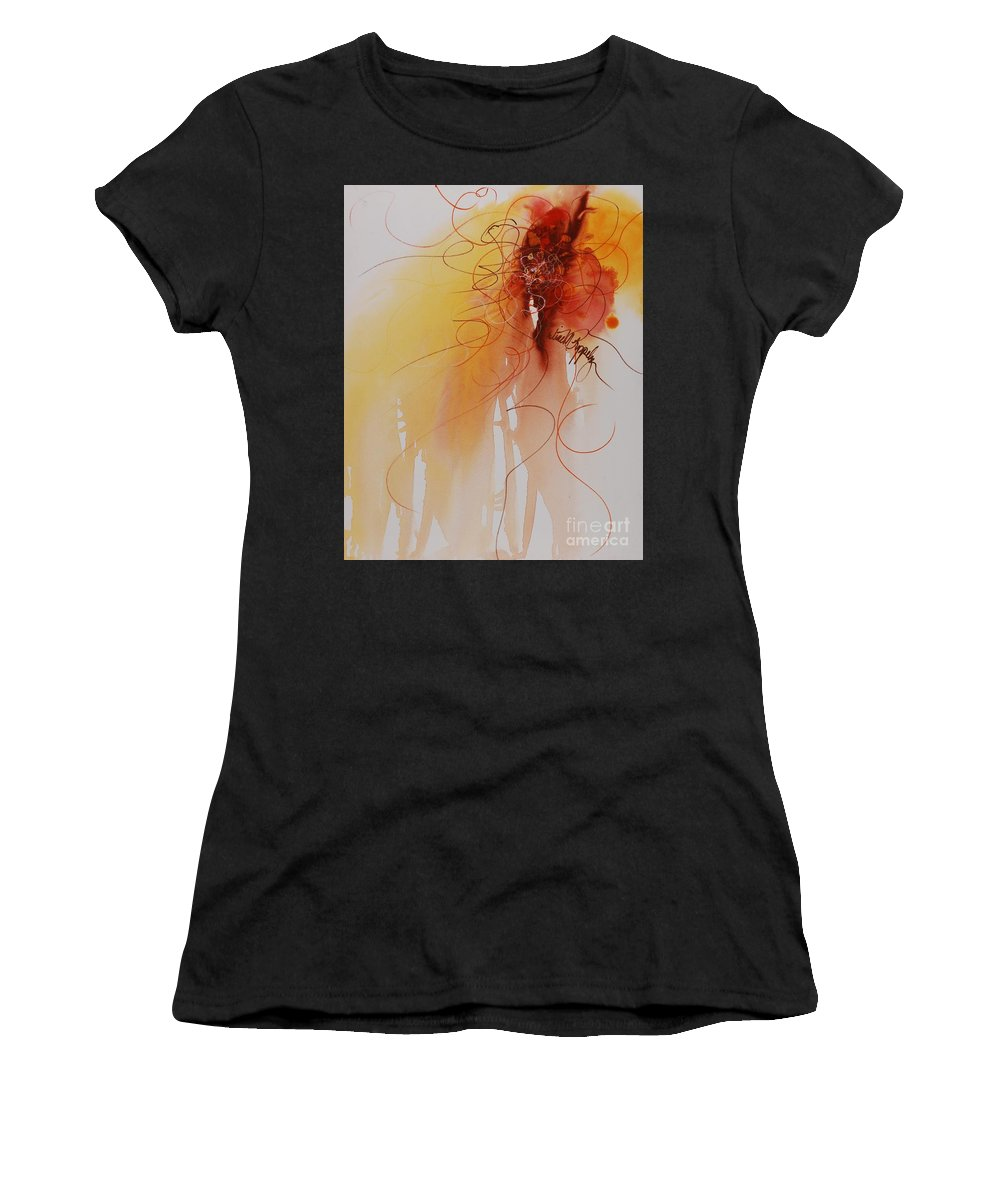 Creativity Women's T-Shirt featuring the painting Creativity by Nadine Rippelmeyer