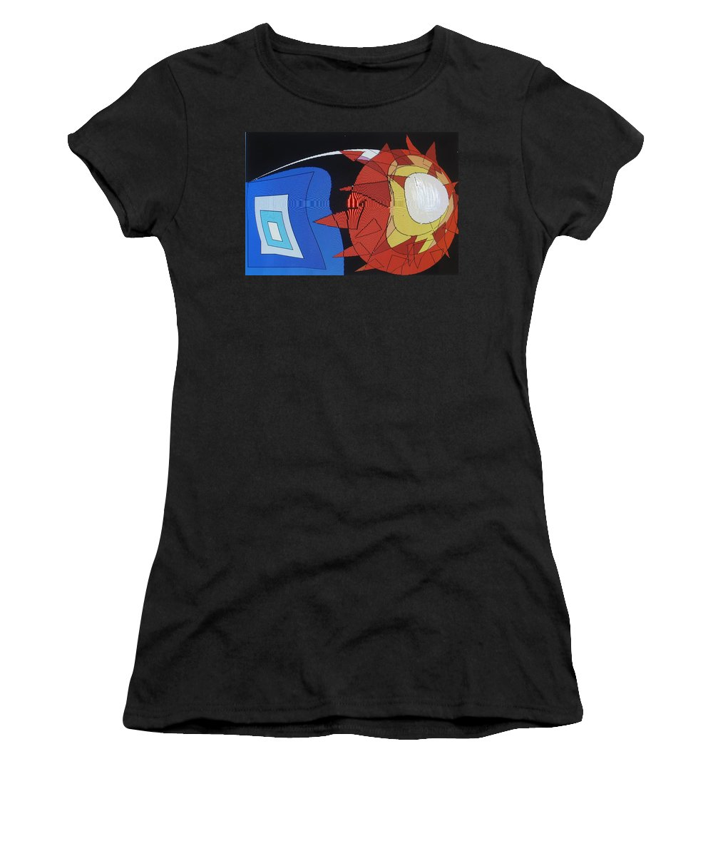 Abstract Women's T-Shirt (Athletic Fit) featuring the digital art Crescendo One by Ian MacDonald